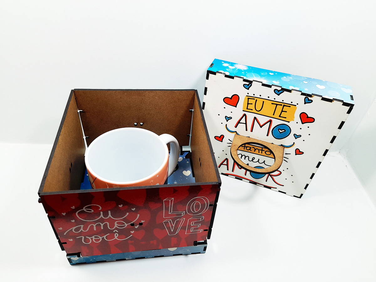 Caixa Explosão de Amor Presente Dia dos Namorados + caneca