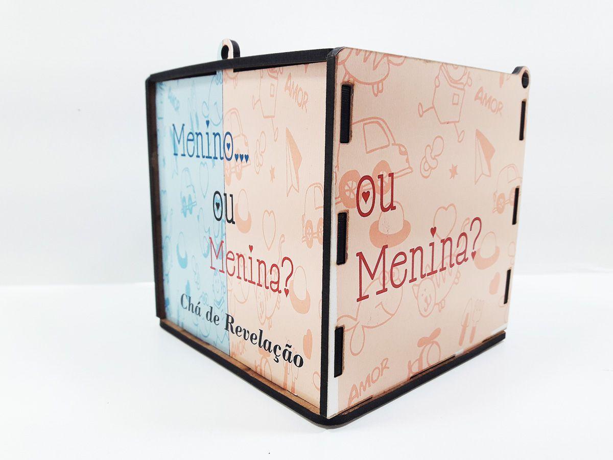 Caixa MDF para Chá Revelação