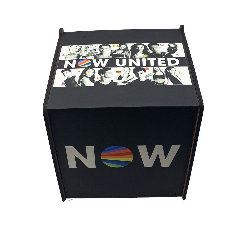 Caixa MDF porta treco Personalizada Grupo Now United