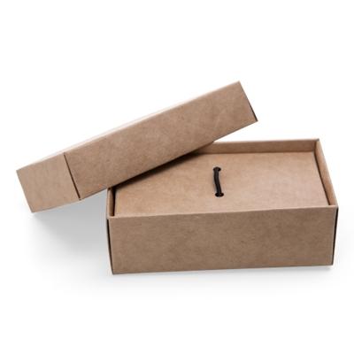 Caixa para pendrive -  Papel Kraft personalizada