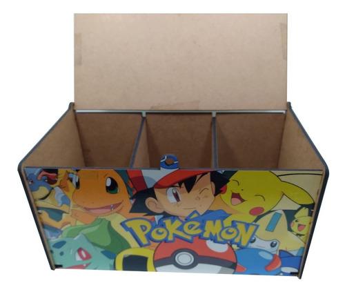 Caixa Porta Cards Pokemon Mdf Coleção Personalizada