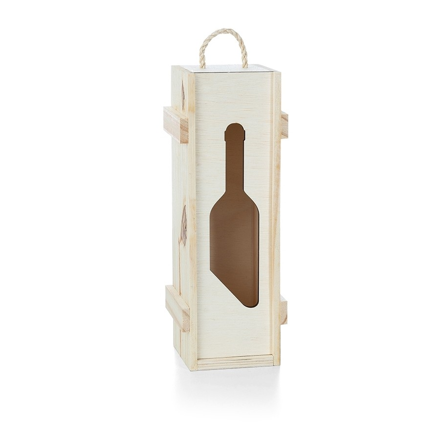 Caixa Porta Vinho de Madeira para Presente