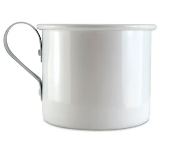 Caneca de Alumínio Branca - 300ml