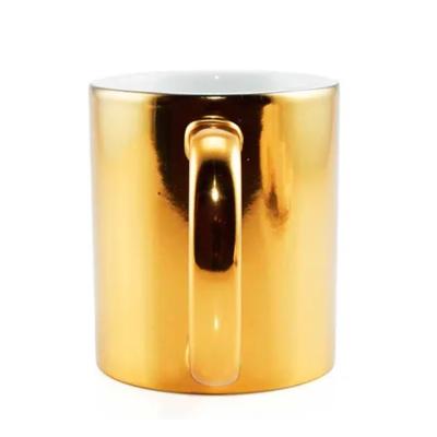 Caneca Dourada Metalizada 325ml - 30 peças