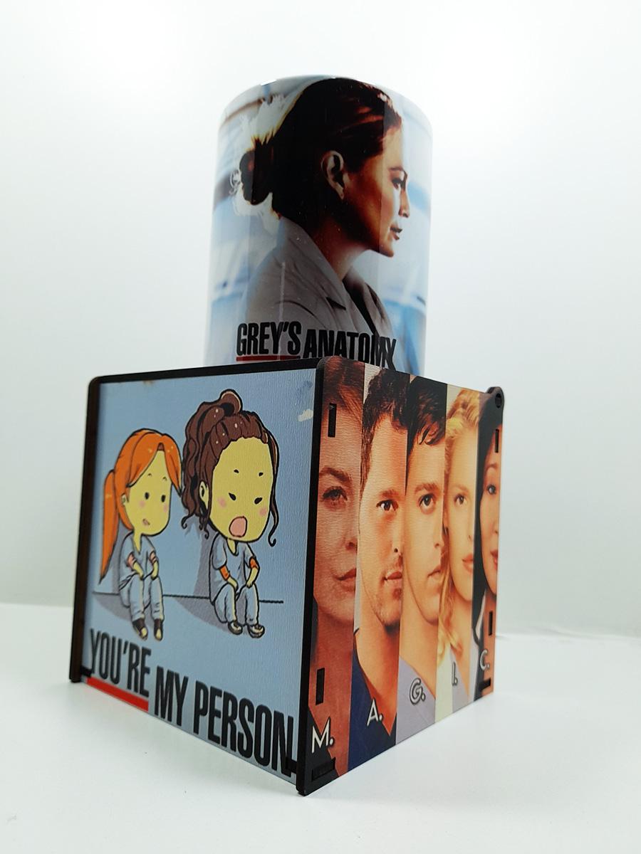 Caneca e Caixa de Presente Séries Grey's Anatomy 2021