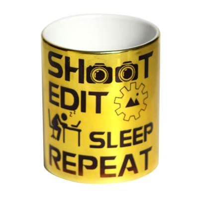 Caneca Gold Metalizada - Shoot Edit - Fotógrafos do Bem