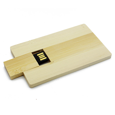 Carcaça P017 Cartão Bambu - Carcaças para pendrives