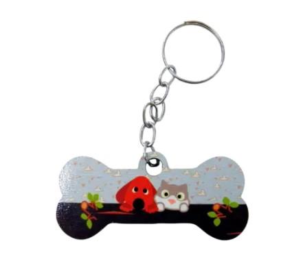 Chaveiro em Formato de Ossinho para Pet Shop