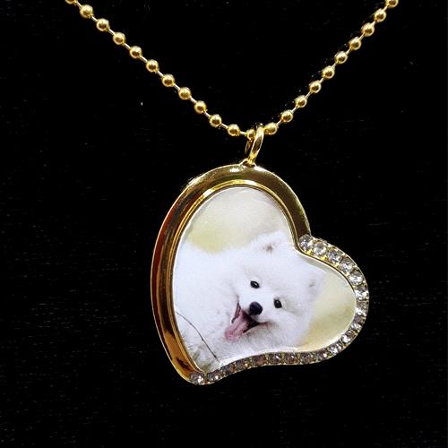 Colar Pingente Personalizado Pet Coração