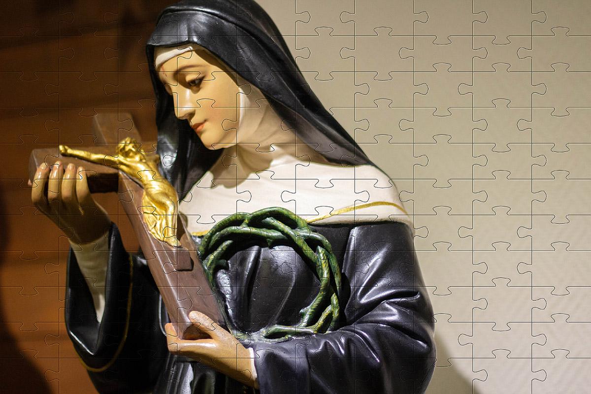 Coleção Quebra-Cabeças Religiosos Santos de Deus de 165 peças + Terço Especial