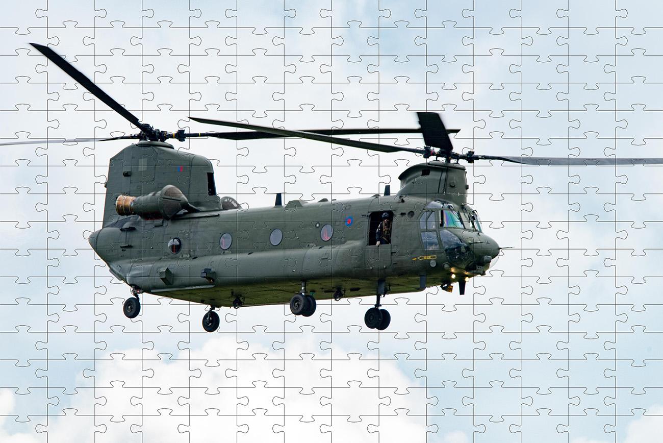 Combo 2 quebra-cabeças cognitivo para idosos 60 peças - Helicopteros