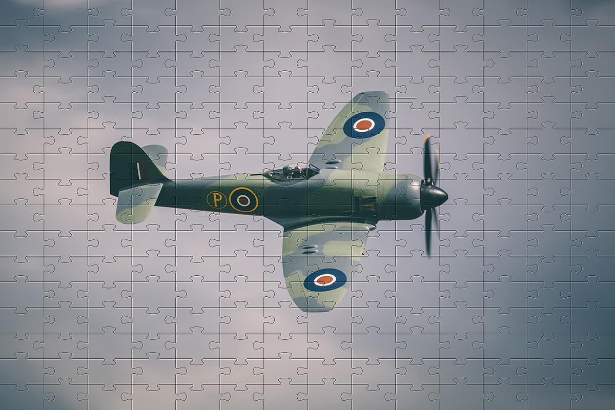 Combo 4 quebra-cabeças cognitivo para idosos 60 peças - Aviões Antigos