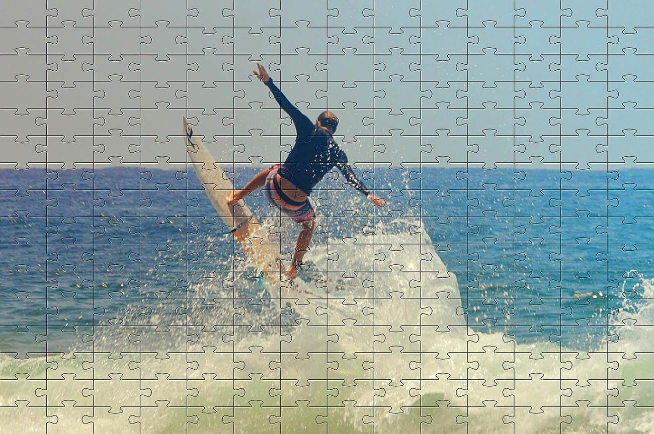 Combo 4 quebra-cabeças cognitivo para idosos 60 peças - Surf