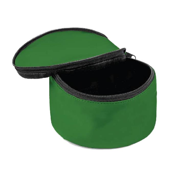 Comedouro Portátil para cachorro com tampa - Verde e Branco - 2 Unidades