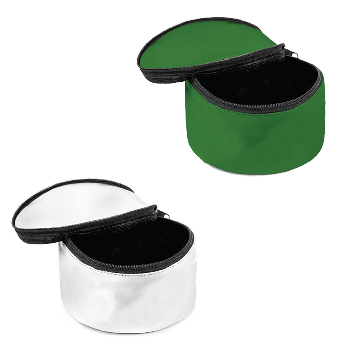 Comedouro Portátil para cachorro com tampa - Verde ou Branco - Pet 121