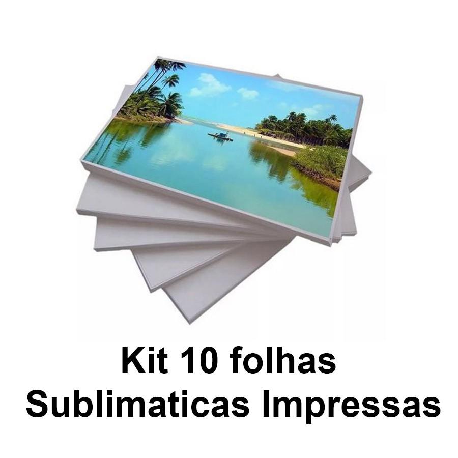Impressão em Folha Sublimática para personalização - Kit de 10 a 50 folhas