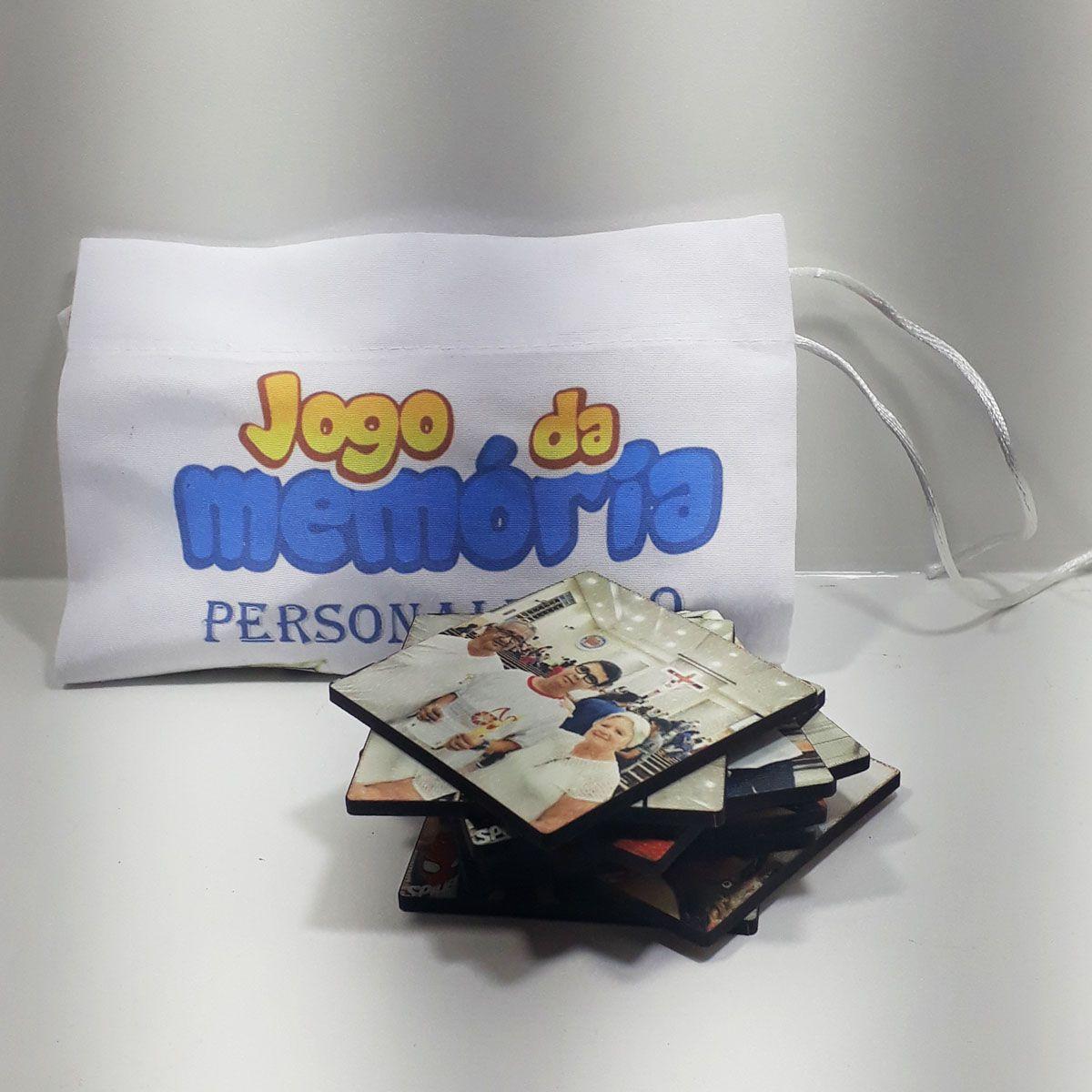 Jogo da Memória Personalizado com fotos + caixa MDF personalizada