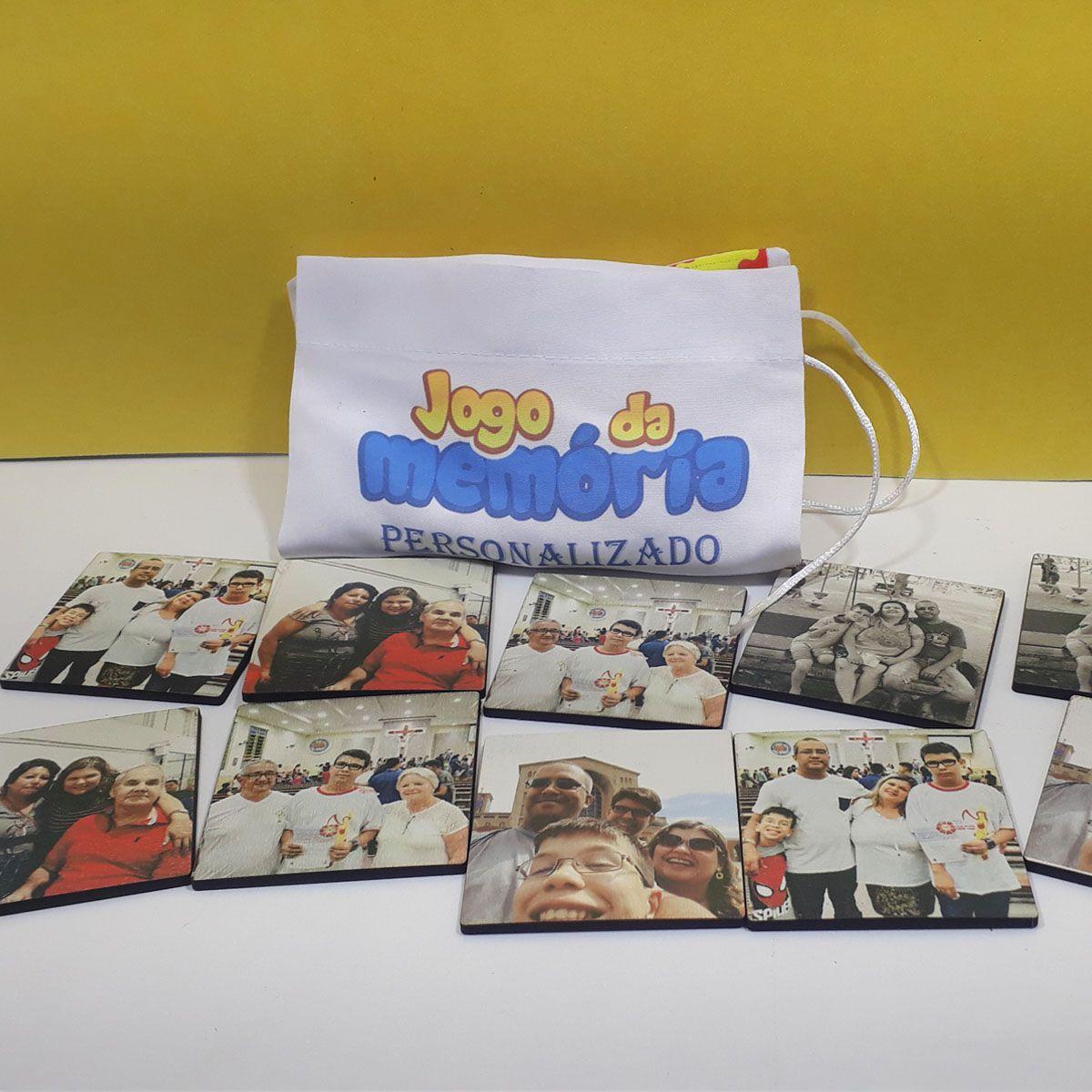 Jogo da Memória Personalizado com fotos para crianças e idosos