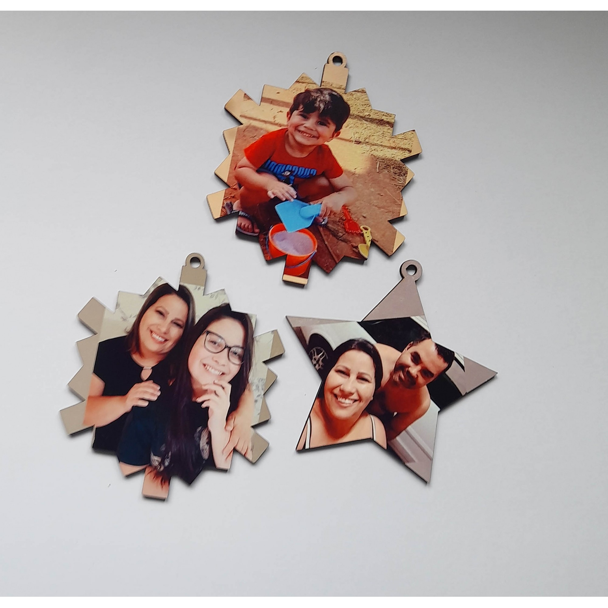 Kit 10 enfeites bolinha de natal personalizado com fotos
