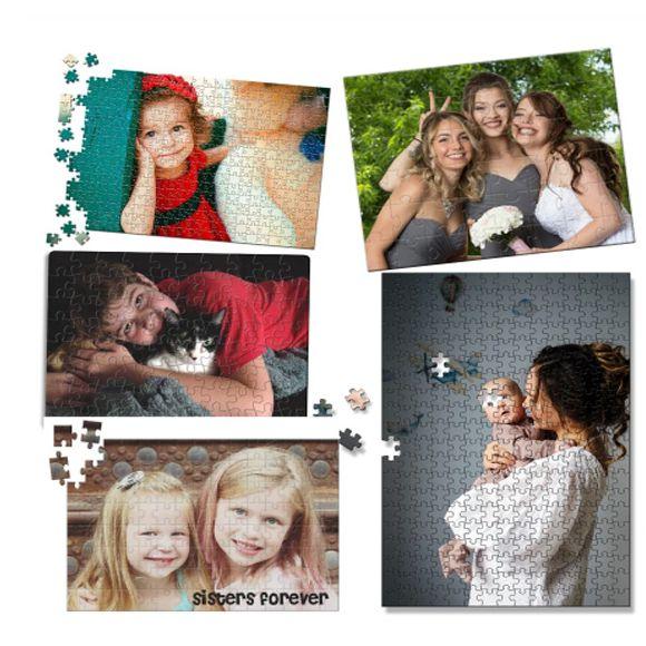 Kit 10 Quebra-Cabeça Personalizado com Fotos 90 peças