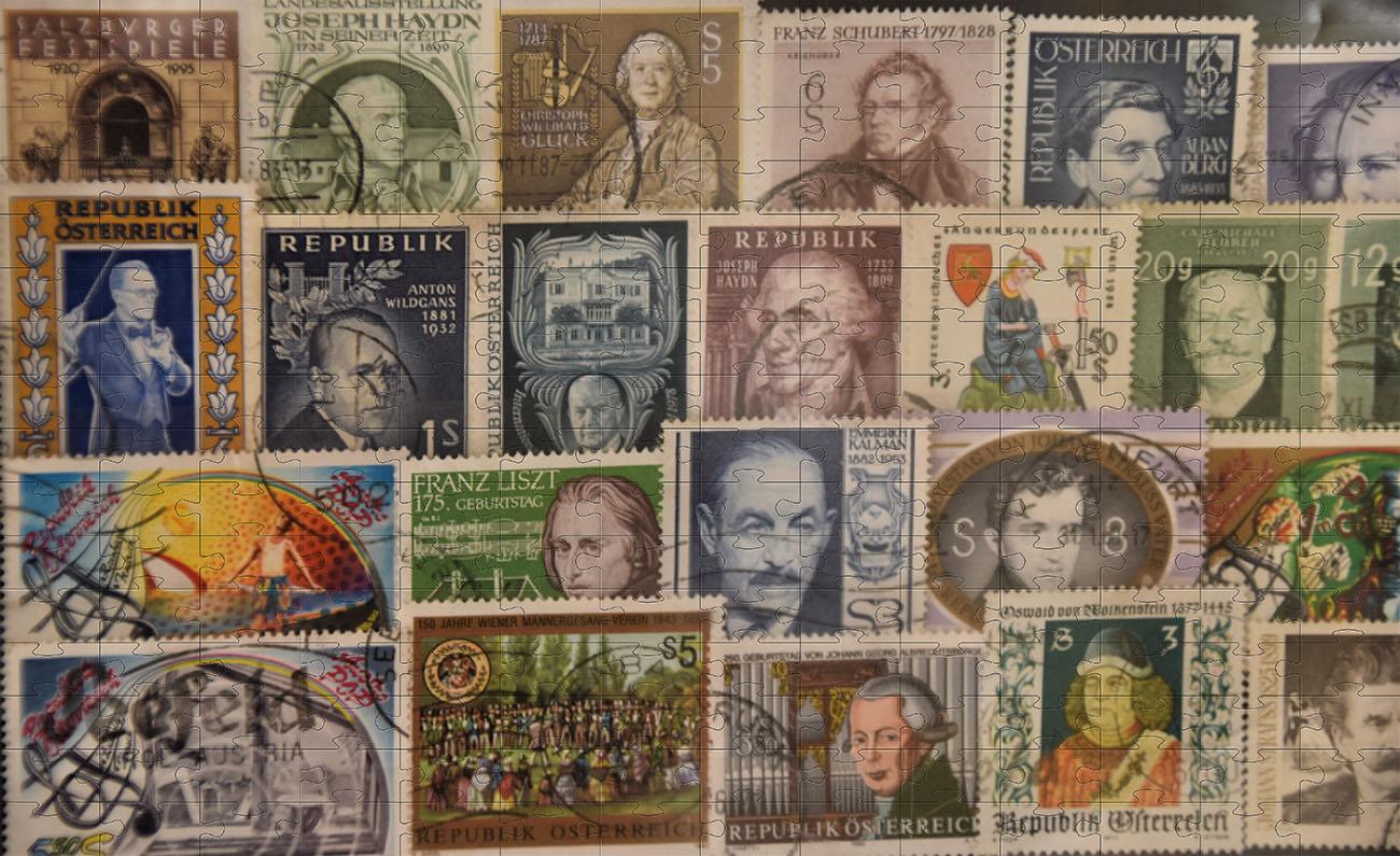 Kit 3 Quebra-cabeças 60 peças cognitivos para idosos colecionador de selos