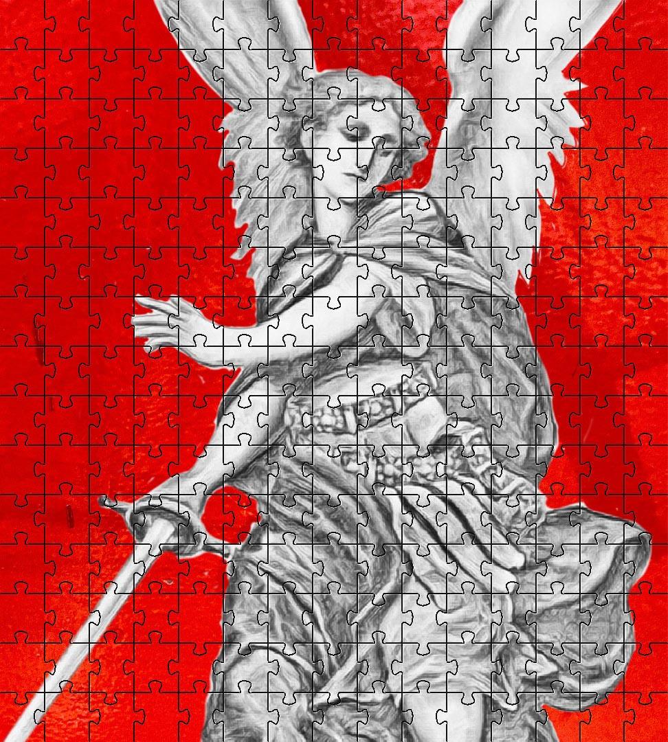 Kit 3 Quebra-cabeças Para idosos Anjos de Deus 24 peças + Jogo da memória