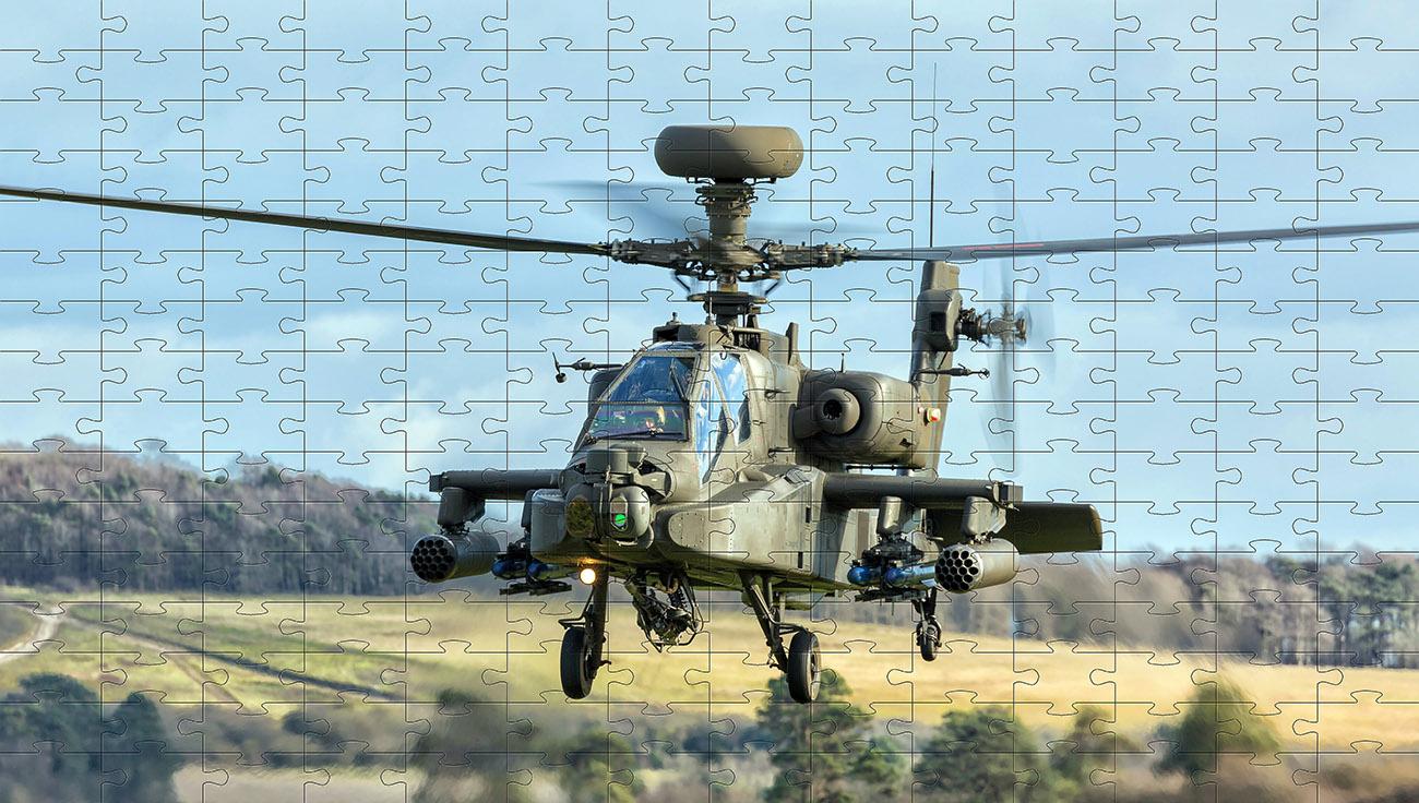 Kit 4 jogos Quebra-cabeças cognitivos para idosos Helicopteros de 60 peças