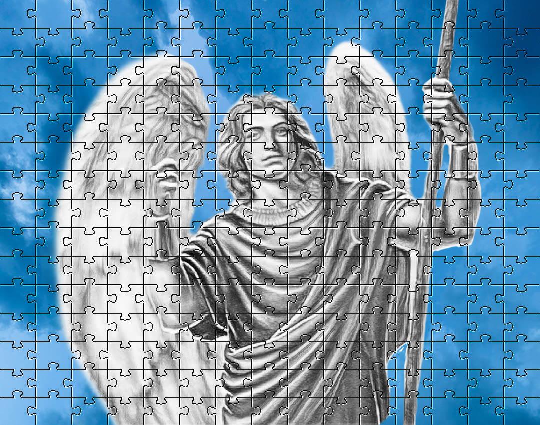 Kit 4 Quebra-cabeça Cognitivo para idosos Anjos de 24 peças