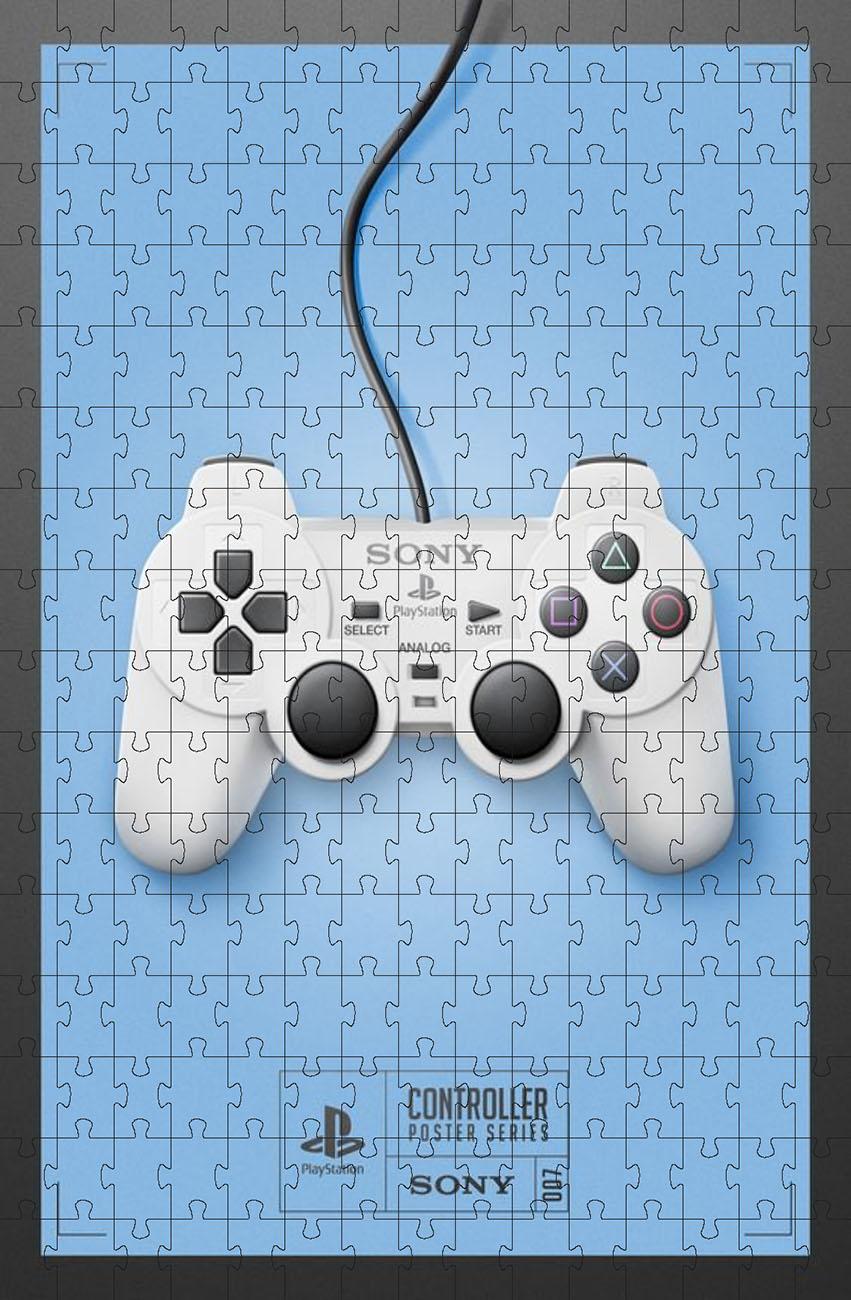 Kit 4 Quebra-cabeças decorativo games retrô 90 peças - 4 unidades