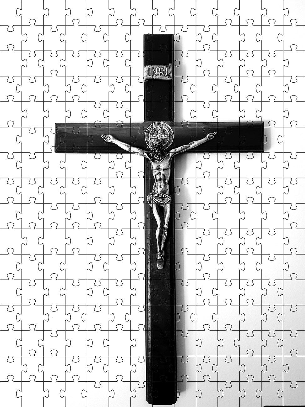 Kit 6 quebra-cabeças Arte Religiosa de 60 peças para idosos