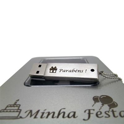Kit Pendrive Aniversário 4 GB - 3 kits diversos ultimas unidades