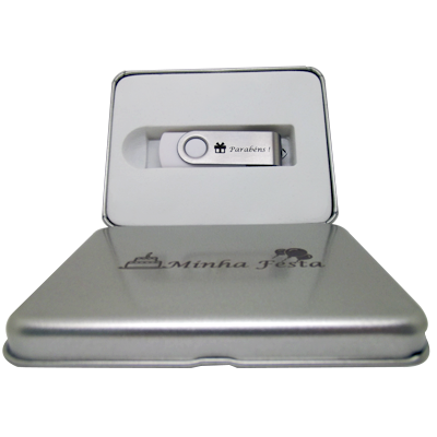 Kit Pendrive Aniversário I  De 8 GB
