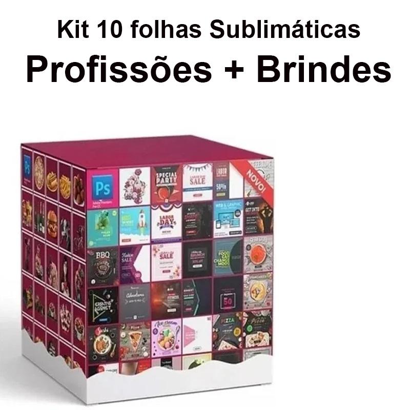 Kit Artes Impressas Temas Diversos A4 + Brinde Pacote Temas