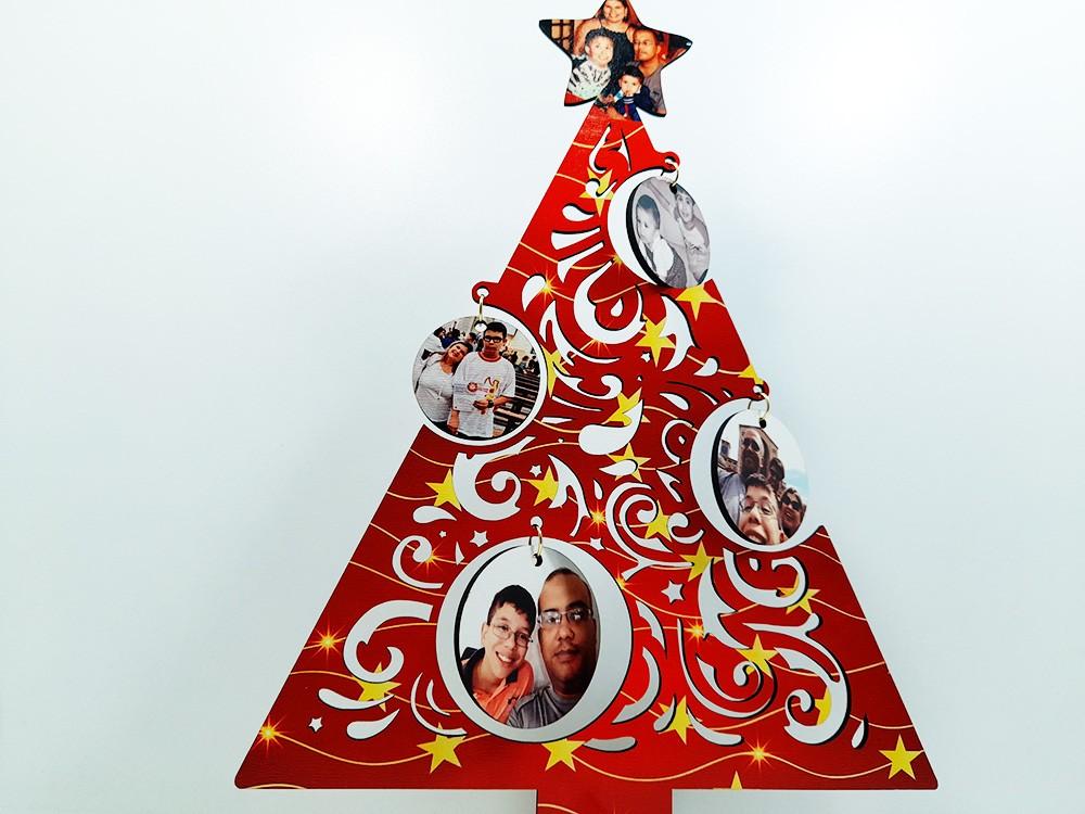 Kit Arvore de natal personalizada + Quebra-cabeças 90 peças Feliz natal