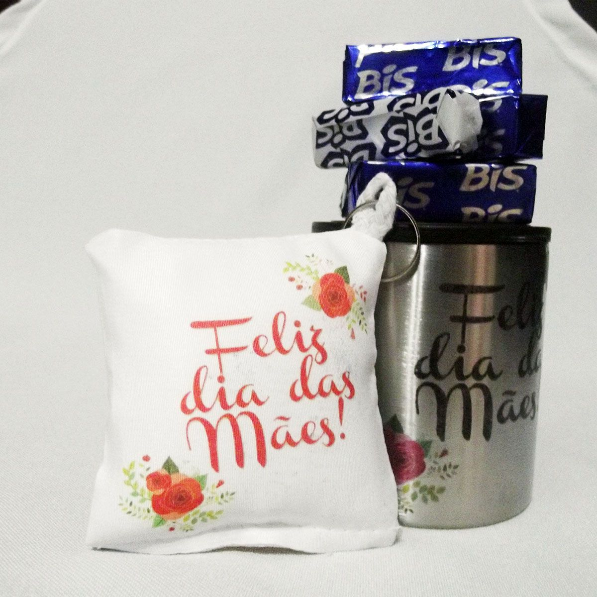 Kit Caneca Inox 180 ml Presente Bis Dia da Mães - Kit Minha Rainha
