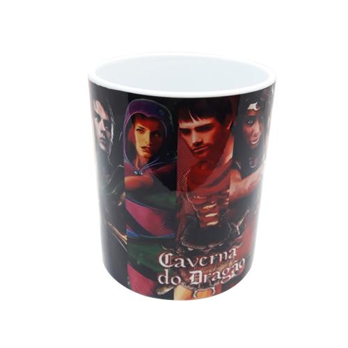 Kit Caverna do Dragão - Caixa + Caneca + Quebra-Cabeça 90 peças