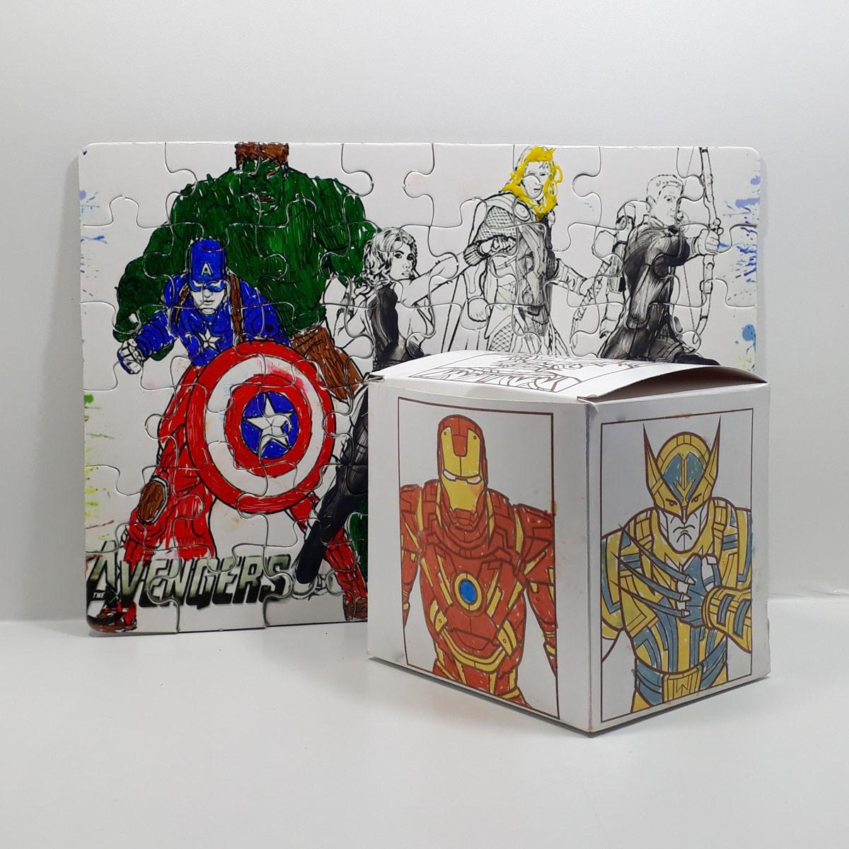 Kit Criativo – Heróis para Colorir – KITPC-017
