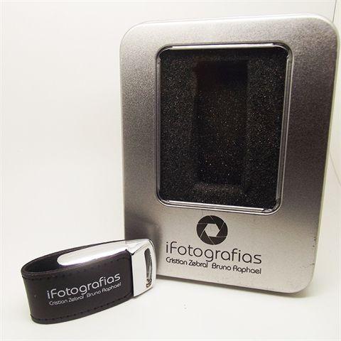Kit Elegance Black - Pendrives para Fotógrafos  de 8 GB e 16 GB