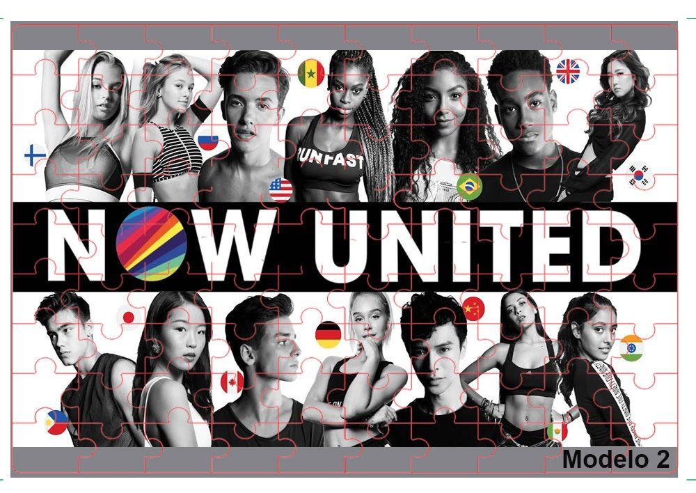 Kit Especial 2 Quebra-cabeças Now united com caixa + surpresa - 165 peças
