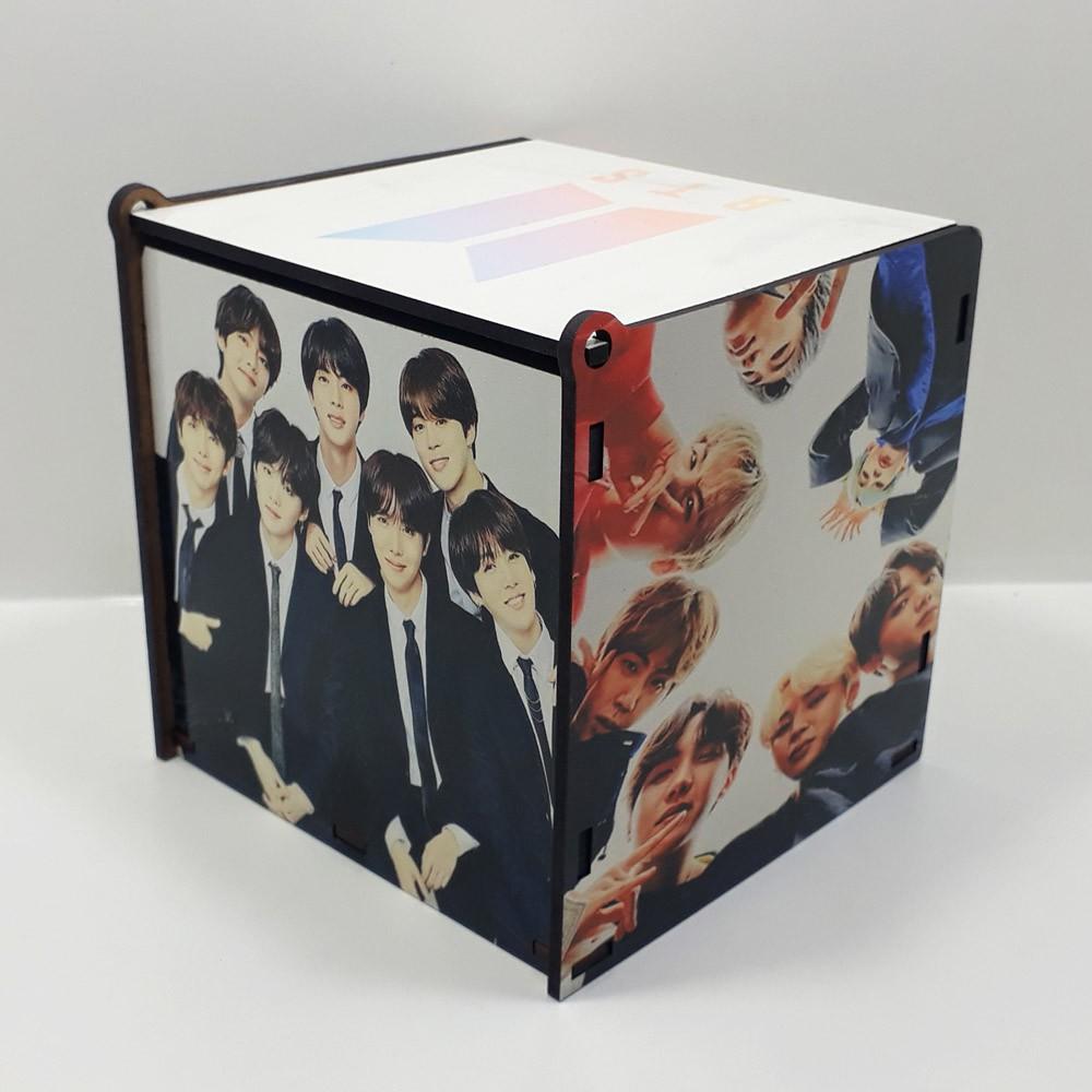 Kit Especial BTS Quebra-cabeça com caixa MDF + caneca personalizada