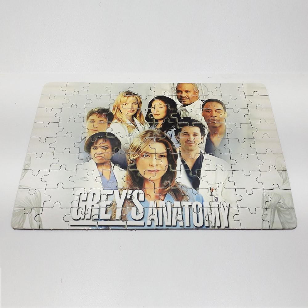 Kit Especial Grey's Anatomy Quebra-cabeça com caixa MDF + caneca personalizada
