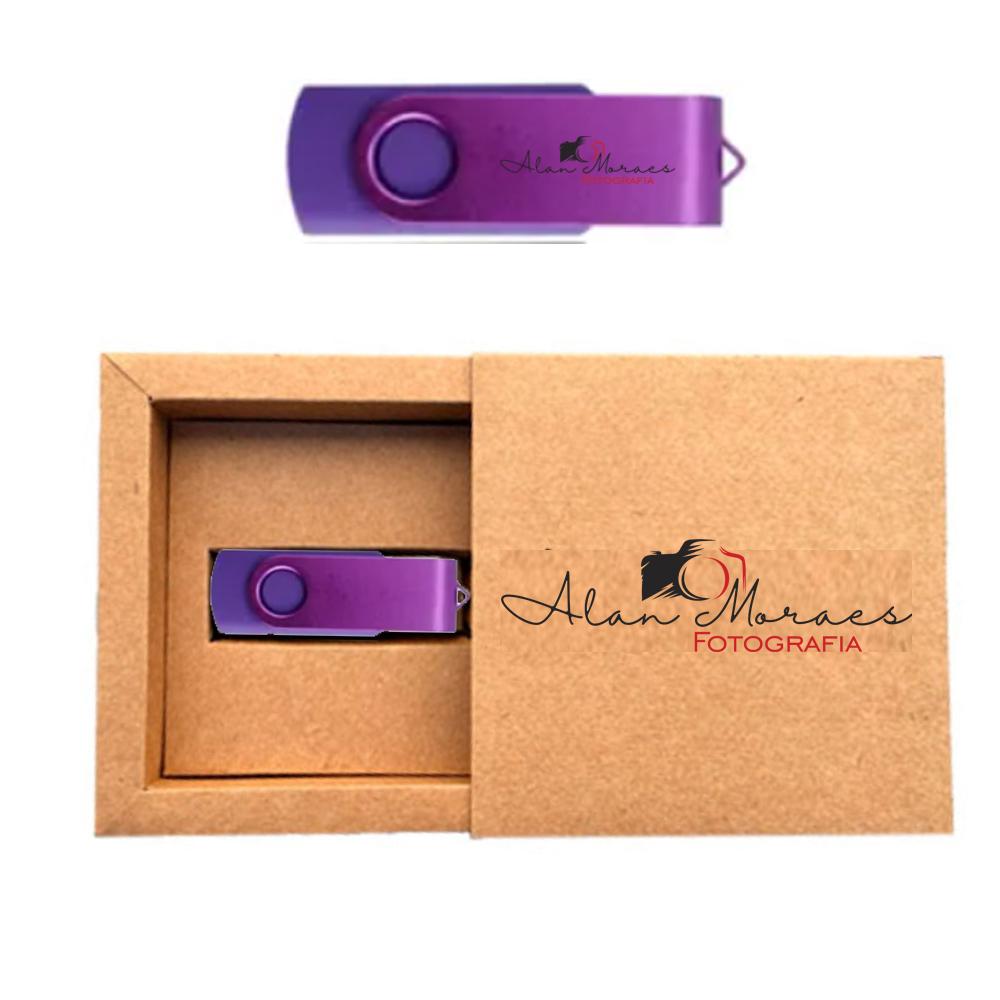 Kit Essence Colors Kraft  8 GB - Pendrives para Fotógrafos Personalizados