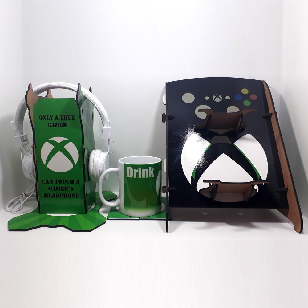 Kit Gamers Spider 4 - Suporte para controle e headset + Caneca