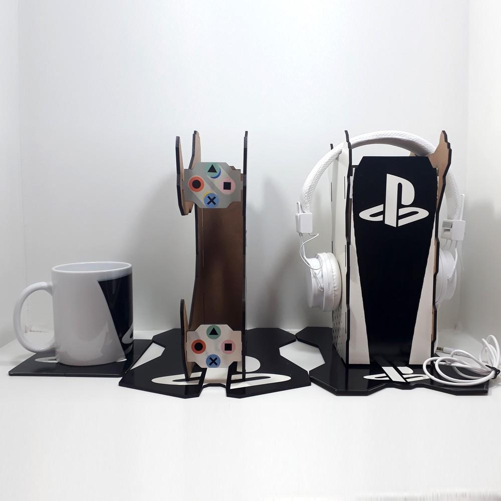 Kit Gamers Venon Mug - Suporte para controle + suporte para headset + Caneca