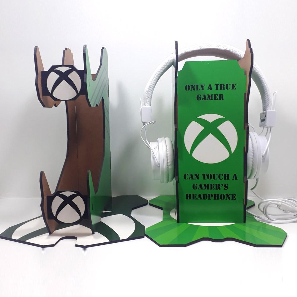 Kit Gamers Venon Xbox - Suporte para controle + suporte para headset