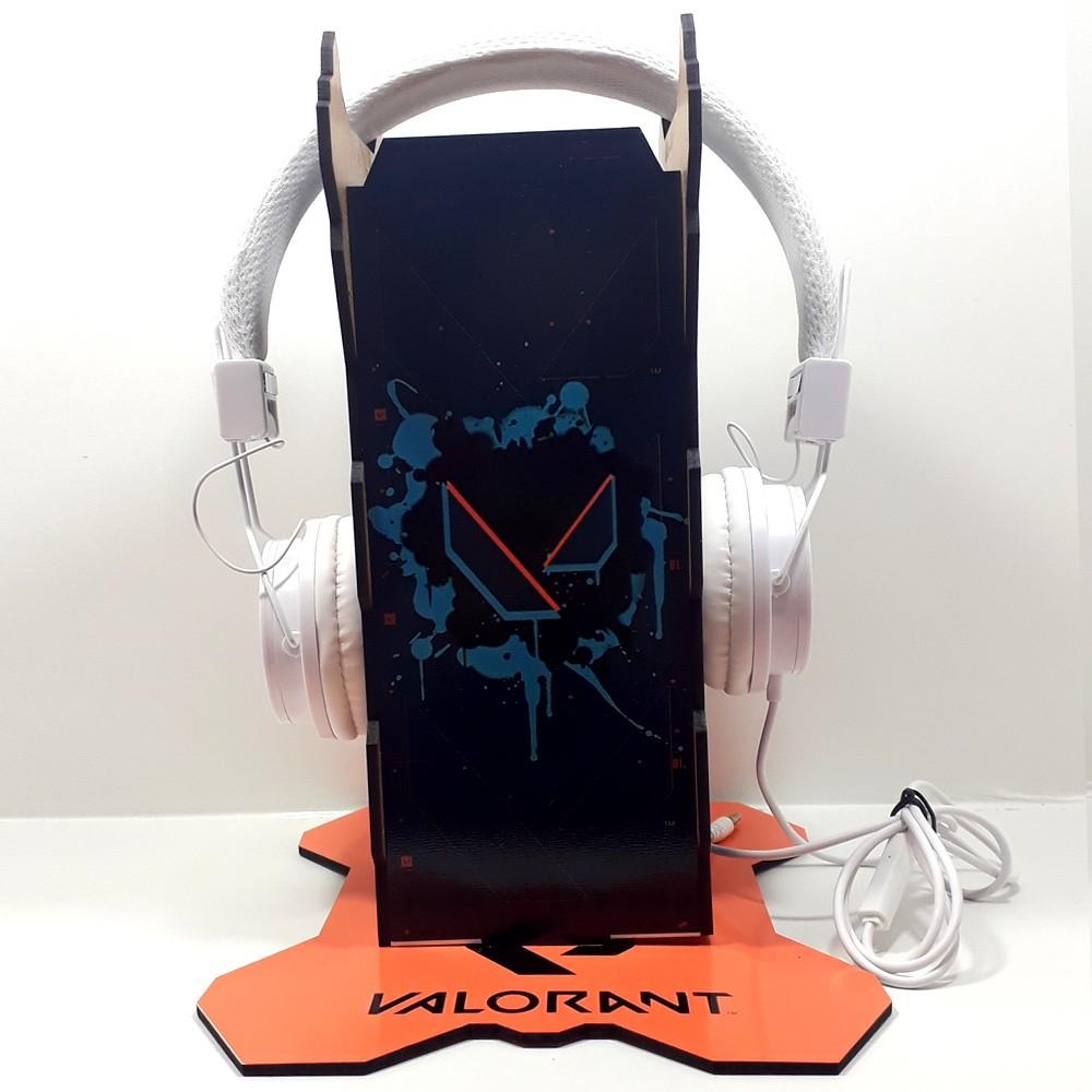 Kit Games - Suporte de Headset + Fone de Ouvido