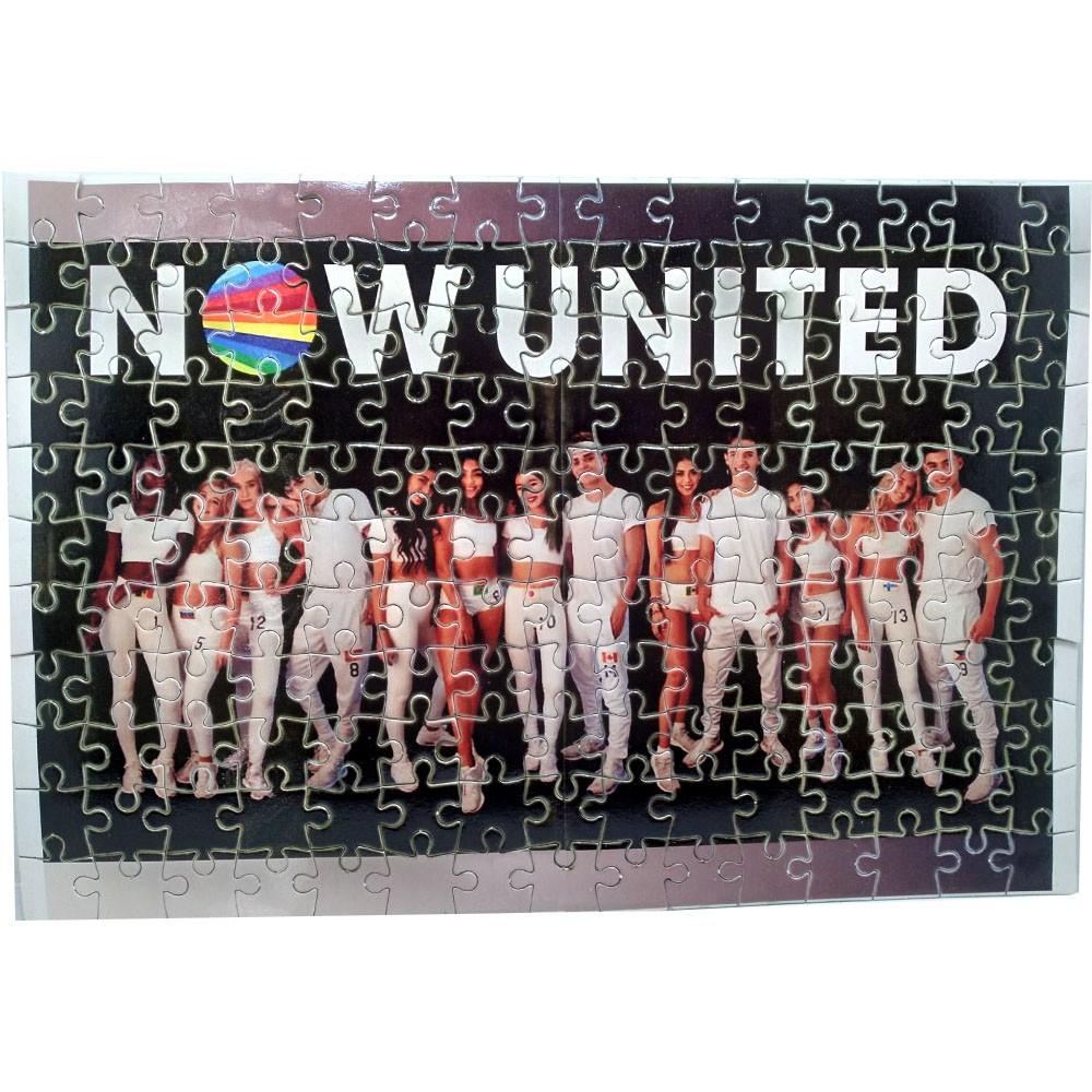Kit Now United para Fã 2 Quebra-cabeças Now united de 165 peças color