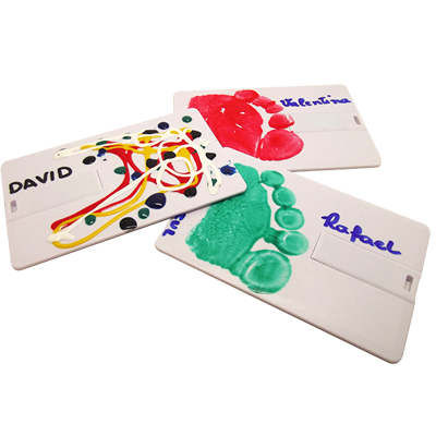 Kit pencard criativo para personalizar  4 GB, 8 GB  e 16 GB - Para escolas e creches