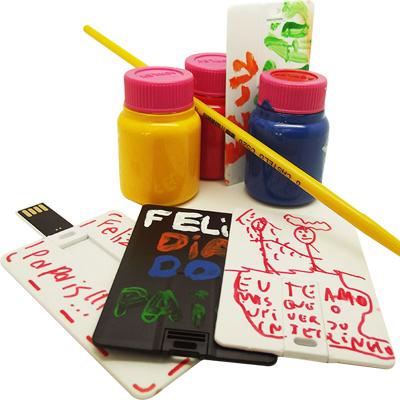 KIt Pendrive criativo para pintar 4GB, 8GB e 16GB - Para Presentear