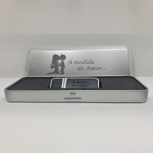 Kit Pendrive Couro Para Casamento De 8 Gb - Pronta Entrega